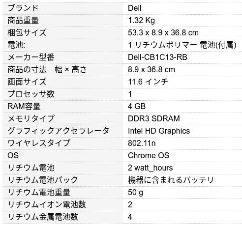 Screenshot2019 08 10at10.12.42 - Dell ChromeBook 11とは?激安ジャスト2万円ノートPC?USキーボードでメーカー整備済!