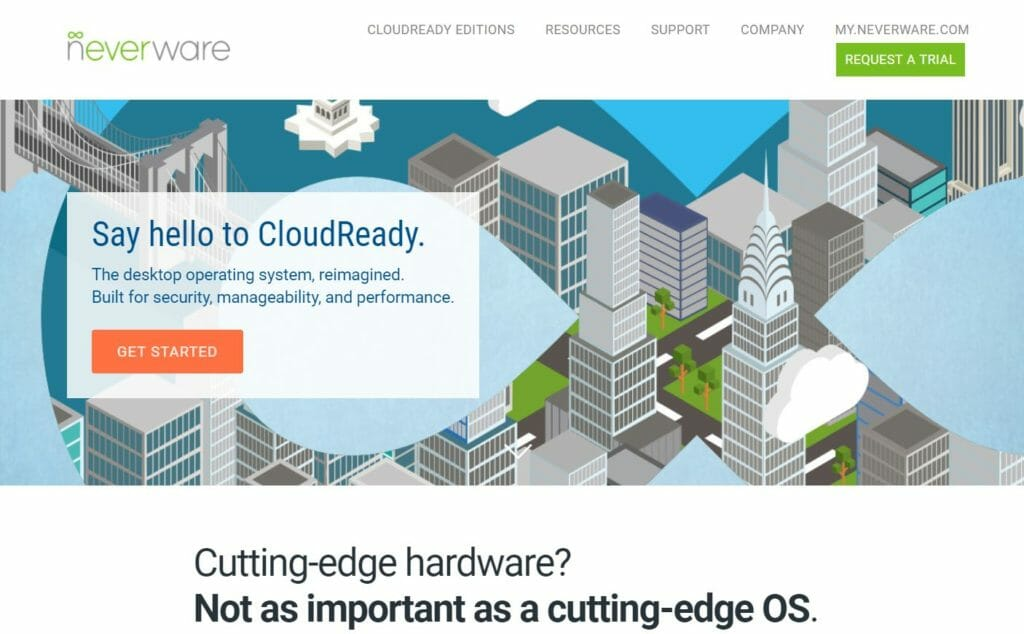 cloud ready 1 1024x634 - Chrome OSをWindows10 PC上でUSBメモリーから起動してみた?!