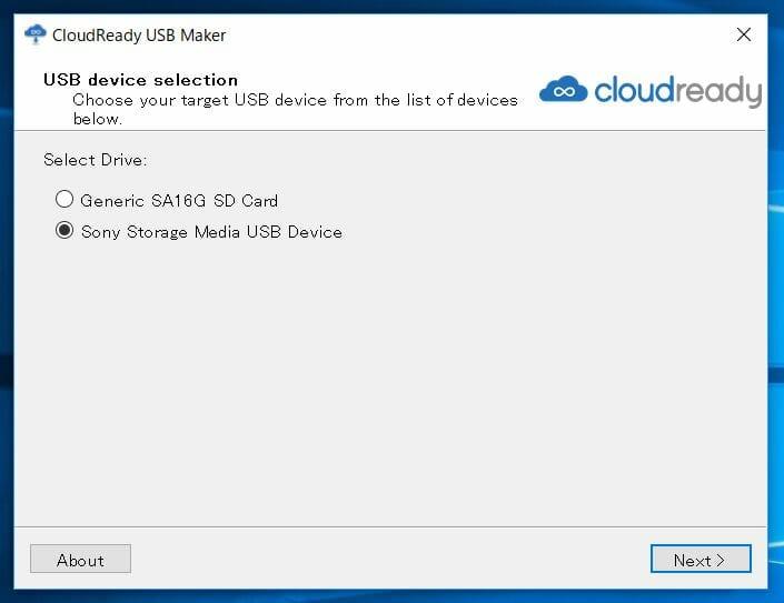cloud ready 11 - Chrome OSをWindows10 PC上でUSBメモリーから起動してみた?!