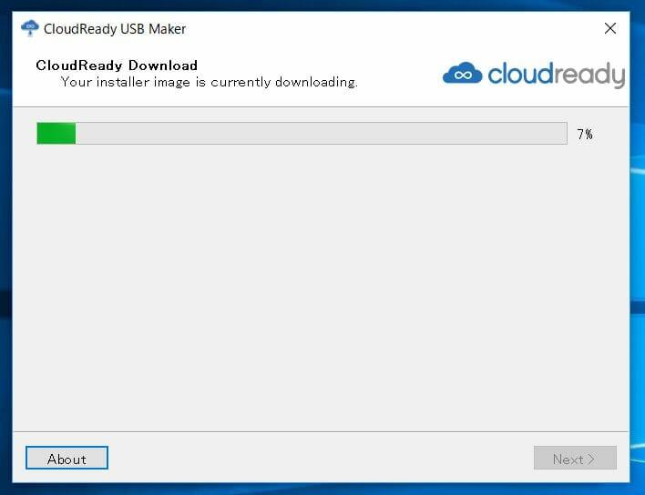 cloud ready 12 - Chrome OSをWindows10 PC上でUSBメモリーから起動してみた?!