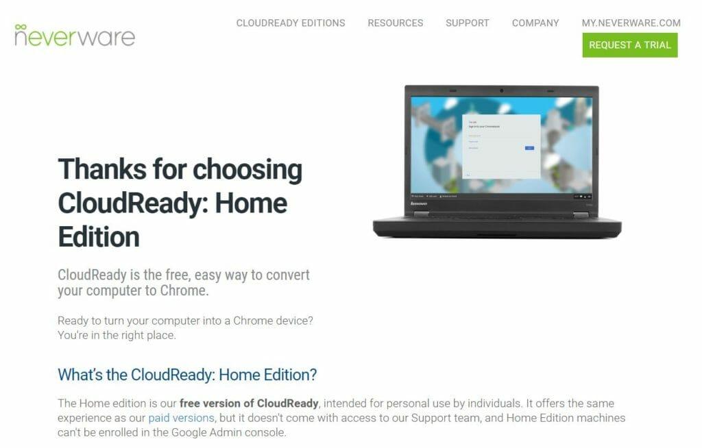 cloud ready 3 1024x654 - Chrome OSをWindows10 PC上でUSBメモリーから起動してみた?!