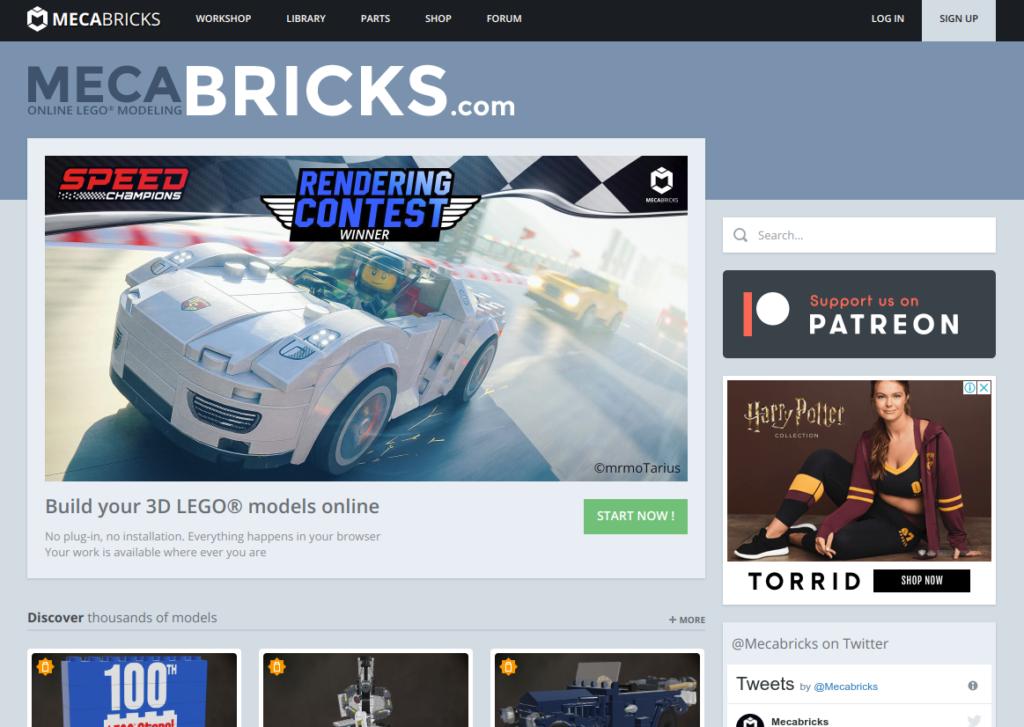 Screenshot2019 08 11at17.44.33 1024x727 - Chromebookで3DCGレンダリング?LEGOをオンラインのMecabricksで楽しむ?!