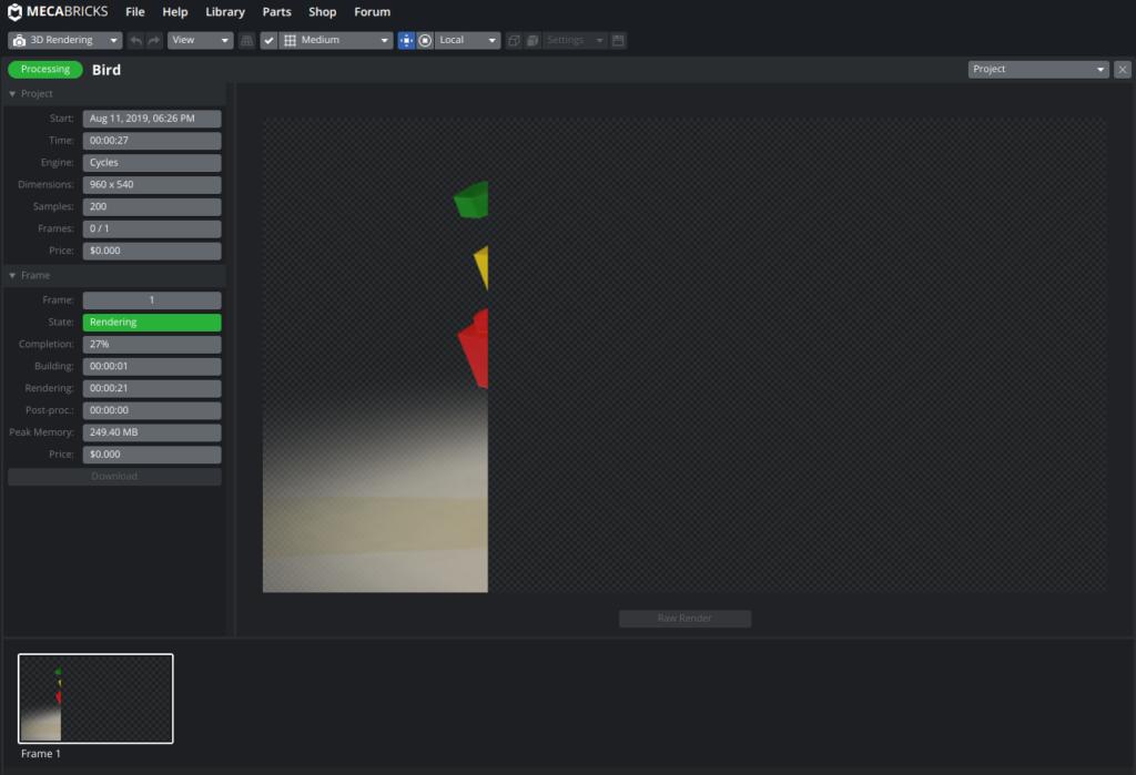 Screenshot2019 08 11at18.26.41 1024x699 - Chromebookで3DCGレンダリング?LEGOをオンラインのMecabricksで楽しむ?!