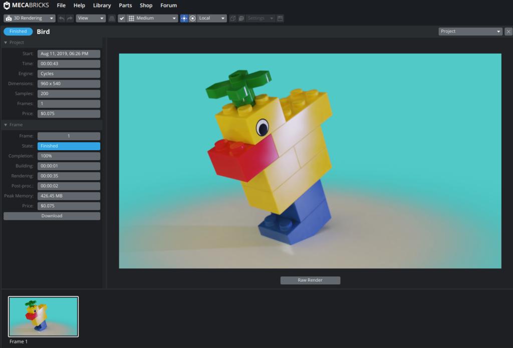 Screenshot2019 08 11at18.27.28 1024x695 - Chromebookで3DCGレンダリング?LEGOをオンラインのMecabricksで楽しむ?!