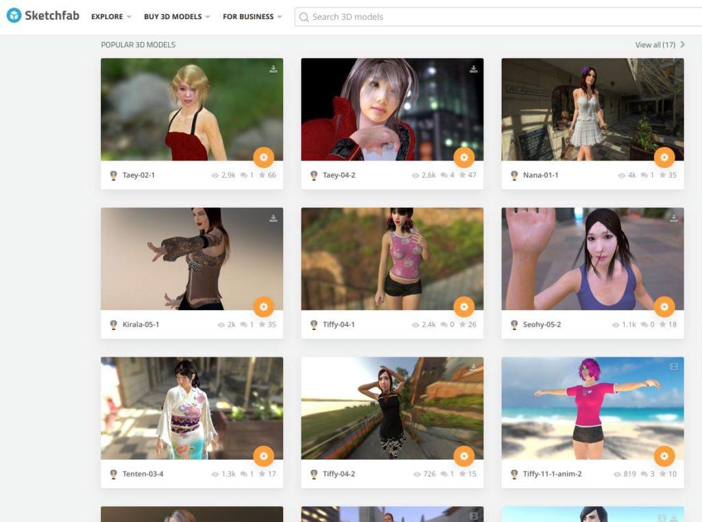 Screenshot2019 08 12at19.19.14 1024x761 - ChromebookでVR?オンラインWebアプリのSTYLYにSketchfabの3DCGモデルをアップして撮影?!