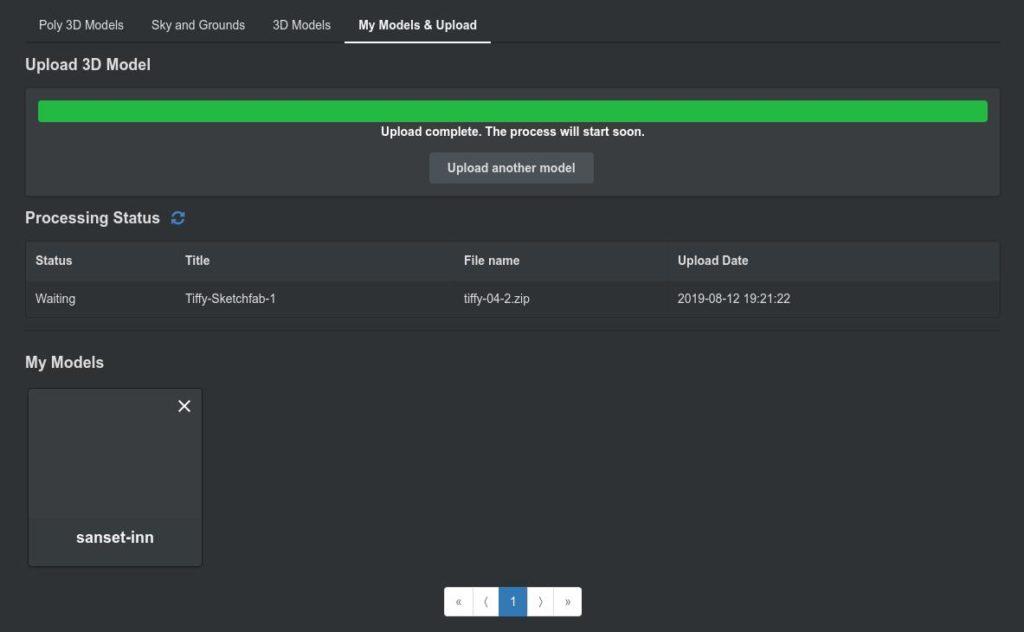 Screenshot2019 08 12at19.22.54 1024x632 - ChromebookでVR?オンラインWebアプリのSTYLYにSketchfabの3DCGモデルをアップして撮影?!