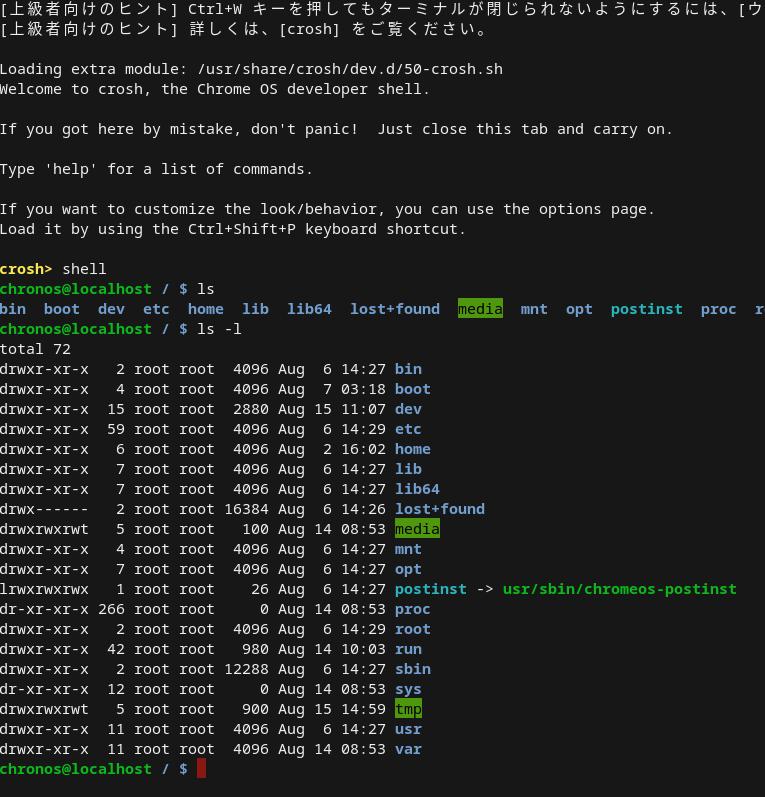 Screenshot2019 08 15at15.00.24 - CroudReady上にCrostiniを使わずデベロッパーモードで直接Linuxアプリをインストール?!