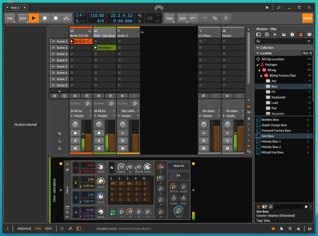 2019 09 14 20 10 11 1024x759 - ChromebookでDTM?Bitwig Studio3 Demo版をLinux Xubuntu上で試す(前編)?!