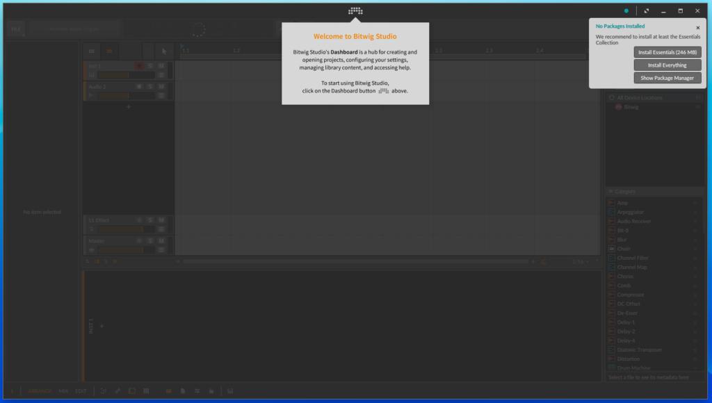 Screenshot 2019 09 13 at 20.10.11 1024x580 - ChromebookでDTM?デモ版Bitwig Studio 3 Linux版を試す?!