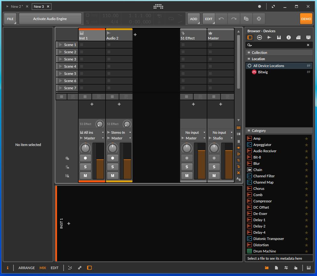 Screenshot 2019 09 13 at 20.36.38 - ChromebookでDTM?デモ版Bitwig Studio 3 Linux版を試す?!