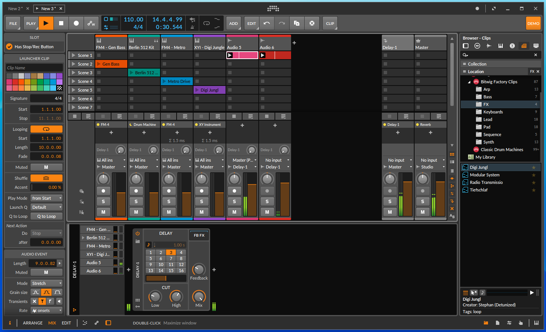 Chromebook Linux Crostini Bitwig Studio 3 DTM