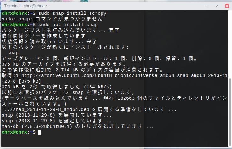 Screenshot from 2019 09 26 22 59 11 - ChromebookのLinuxからAndroidタブレットをリモート操作?!