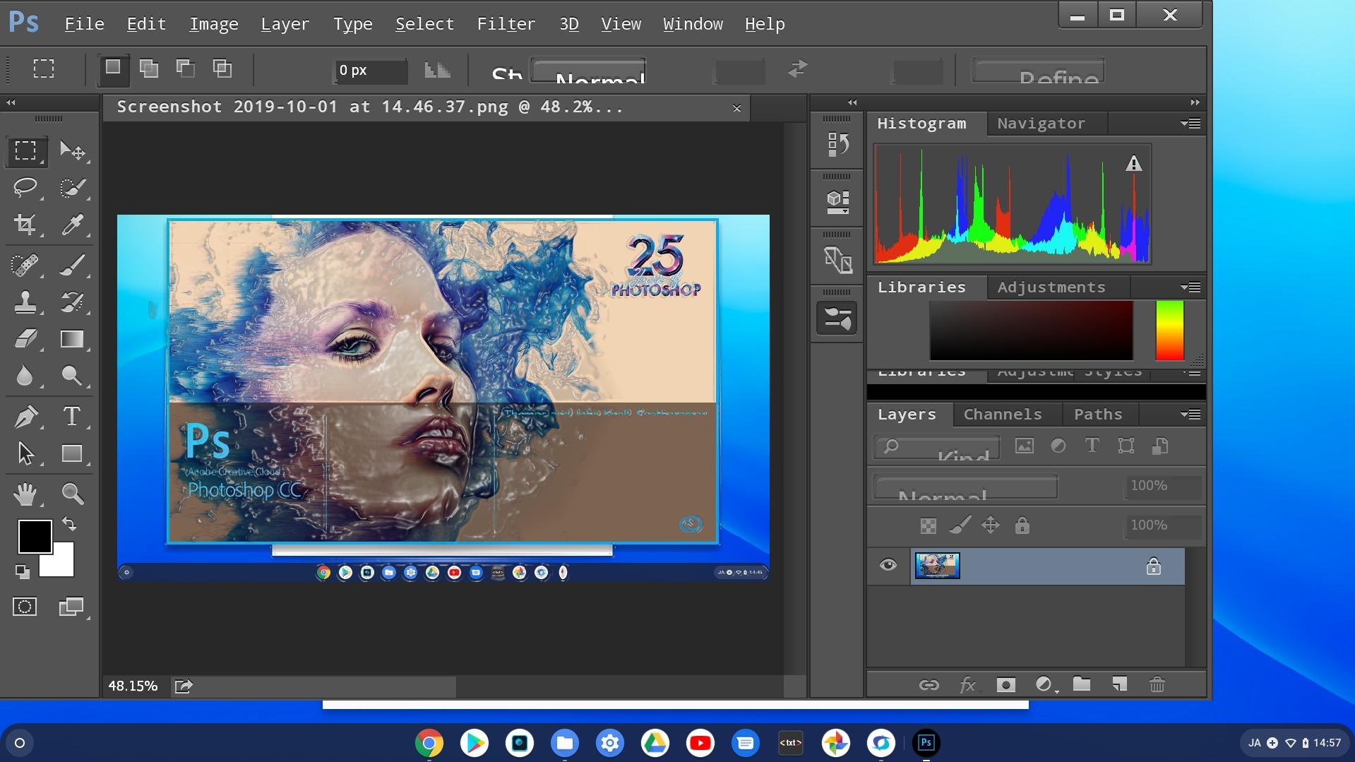 Chromebook CrossOver Photoshop CC 2015 Windows