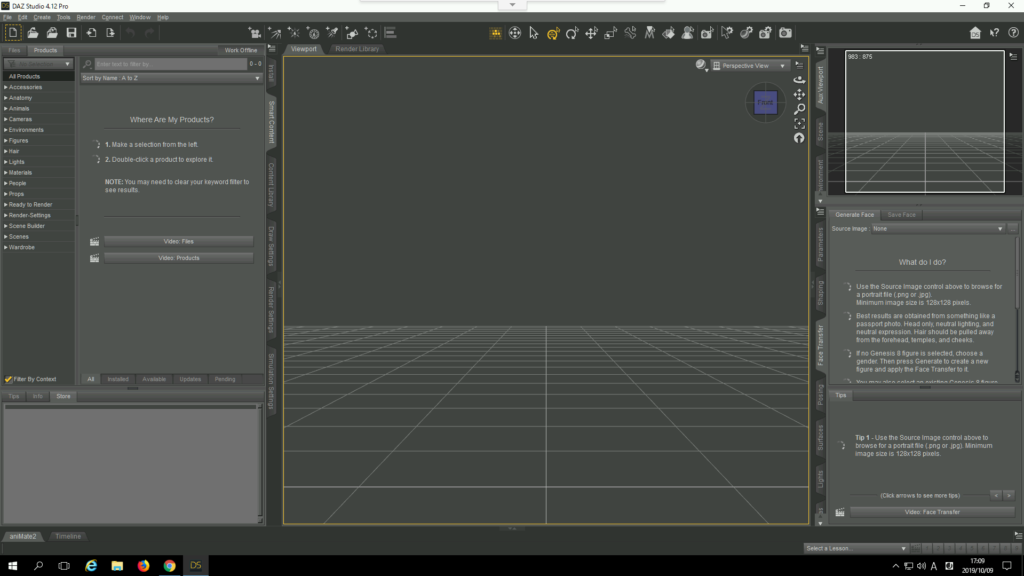 Screenshot 2019 10 09 at 17.09.14 1024x576 - ChromebookでDAZ?Genesis2をBlenderとMixamoでアニメーション?!