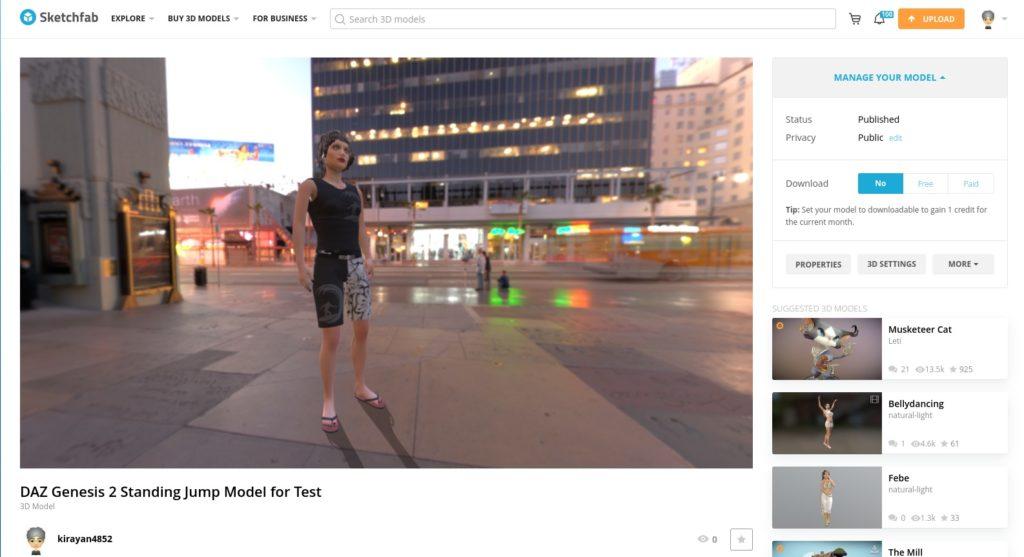 Screenshot 2019 10 10 at 21.06.09 1024x557 - ChromebookでDAZ?Genesis2をBlenderとMixamoでアニメーション?!