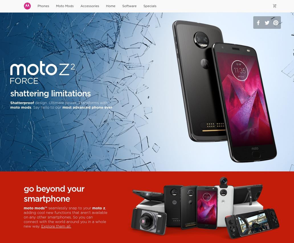 Motorola Moto Z2 Force Moto Mods