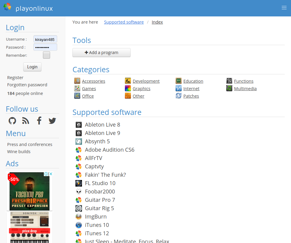 Screenshot from 2019 10 16 15 54 46 - ChromebookでWINE?GalliumOSのPlayOnLinuxでAbleton Liveのインストールにチャレンジ?!