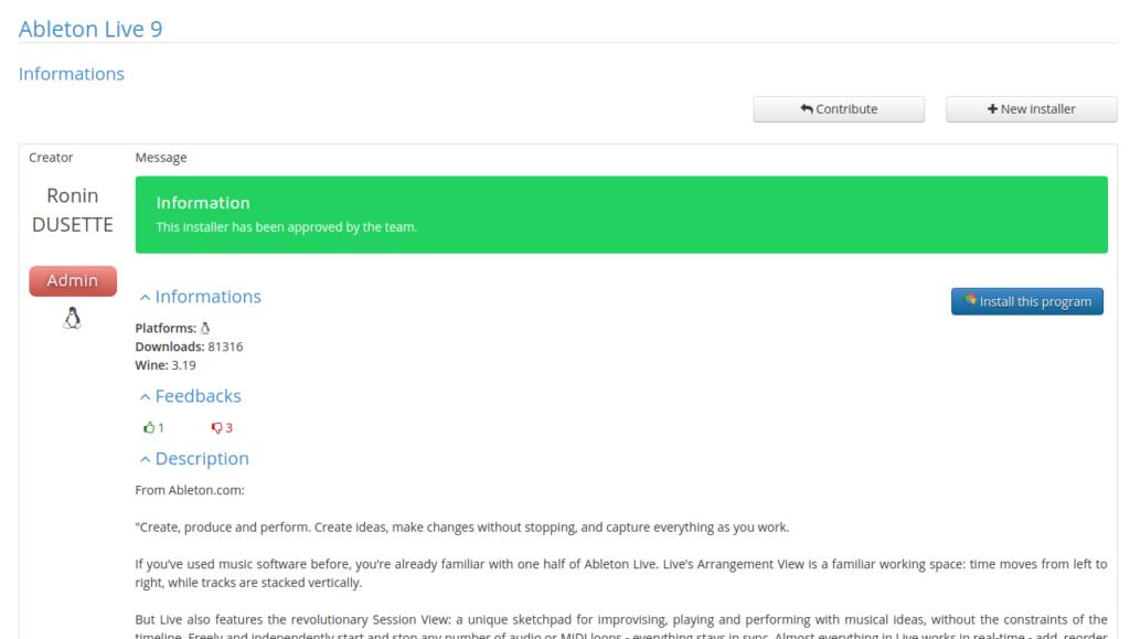 Screenshot from 2019 10 16 15 57 53 1024x579 - ChromebookでWINE?GalliumOSのPlayOnLinuxでAbleton Liveのインストールにチャレンジ?!
