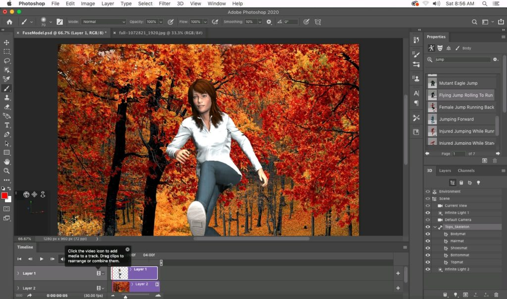 Screenshot 2019 12 08 at 01.56.38 1024x603 - ChromebookでFuse CC?仮想macOS MojaveのMacinCloudのPhotoshop2020で3DCG?!
