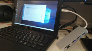 Windows10 PC microSDカード クローン USB-Cハブ